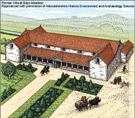 Roman Villa at Bays Meadow © WCC reproduced with permission