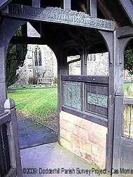 The memorial lychgate at St Mary de Wyche Church